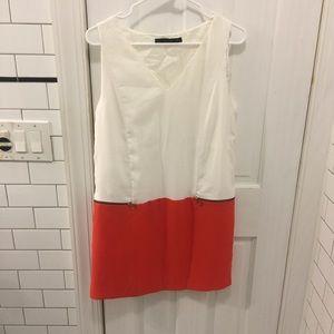 Zara two-toned shift dress